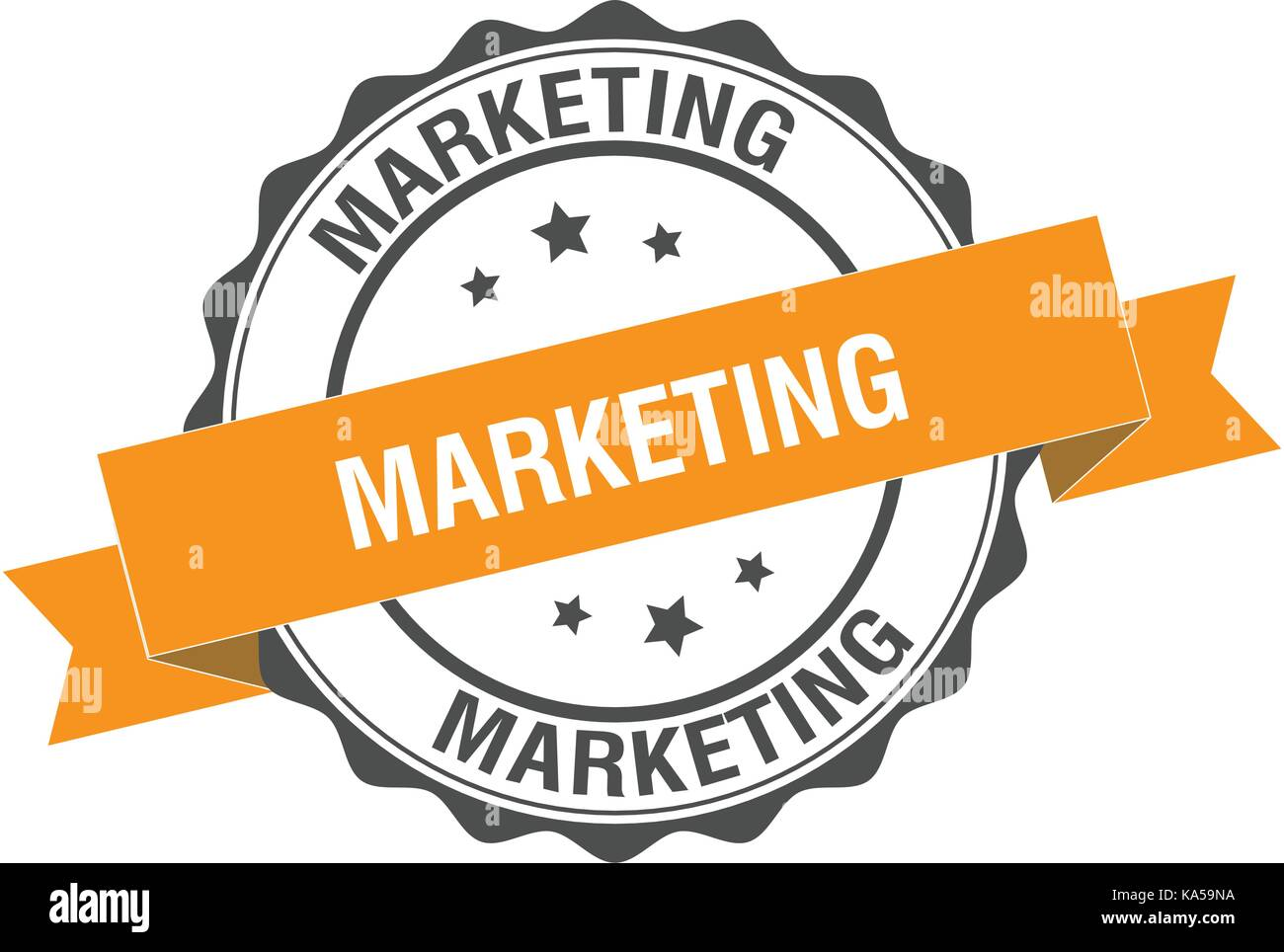 Marketing stamp illustration - Stock Image