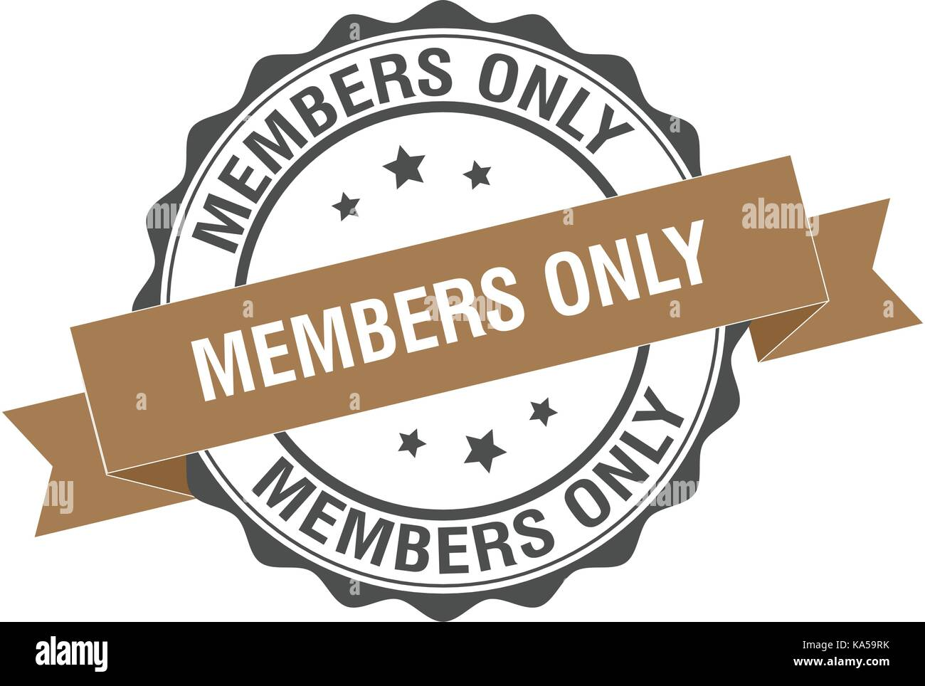 Members only stamp illustration - Stock Vector