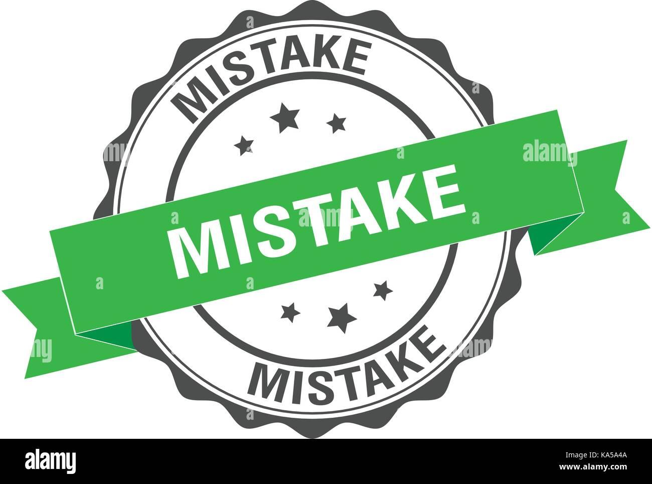 Mistake stamp illustration - Stock Image