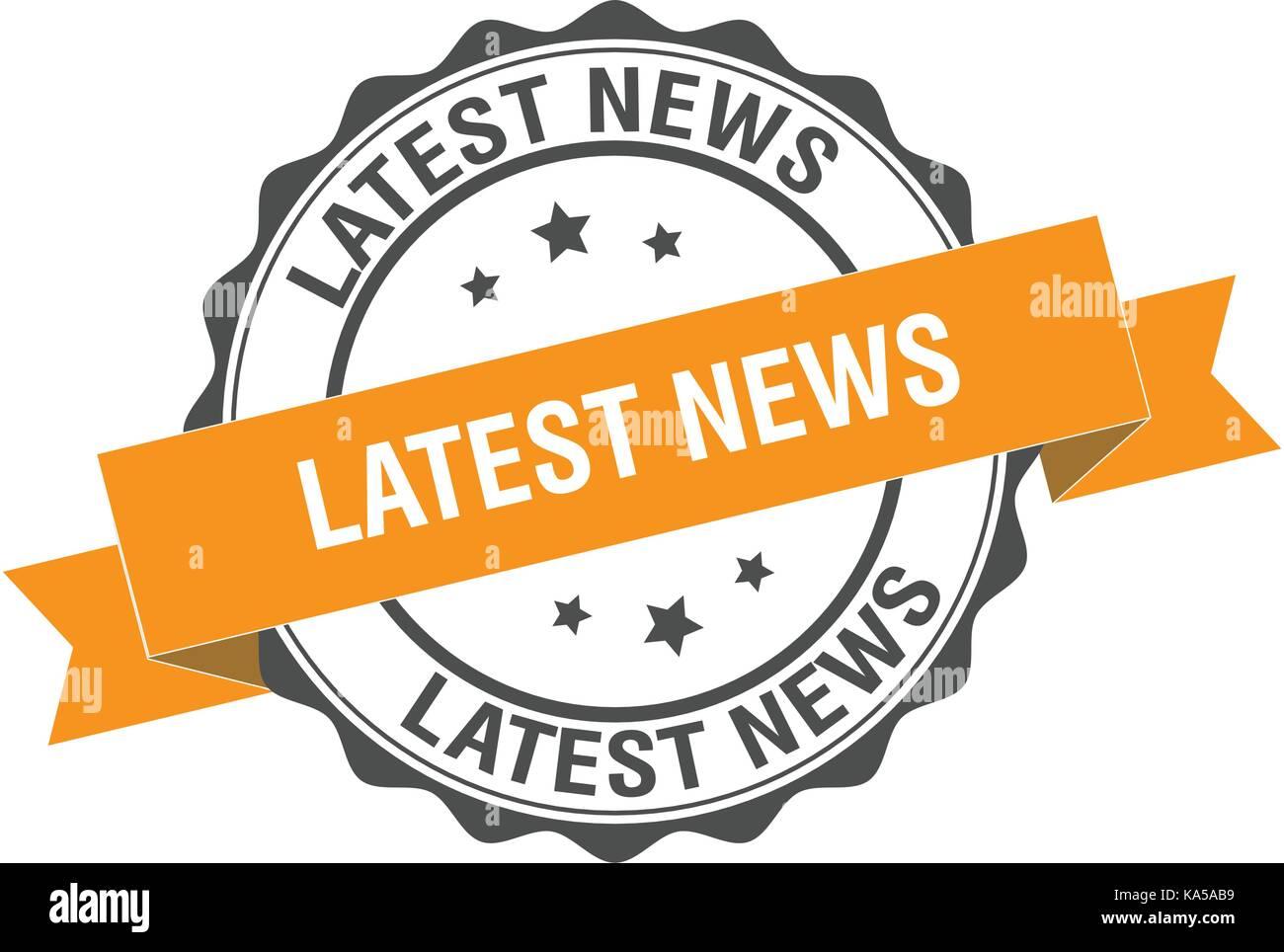 Latest news stamp illustration - Stock Image