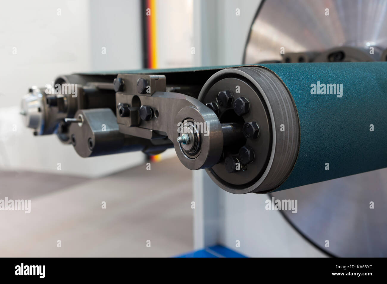 Wire processing machine for wire lapping ; close up Stock Photo ...