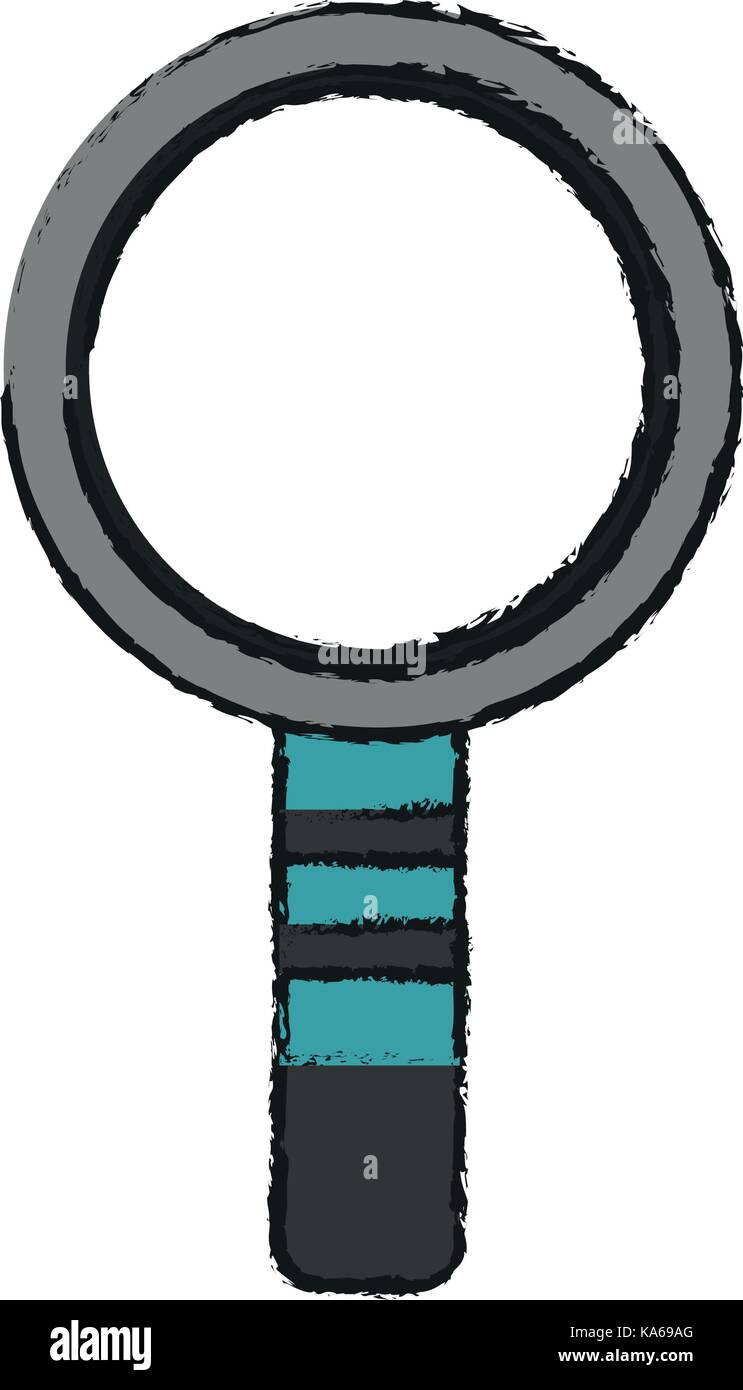 magnifying glass search - Stock Vector