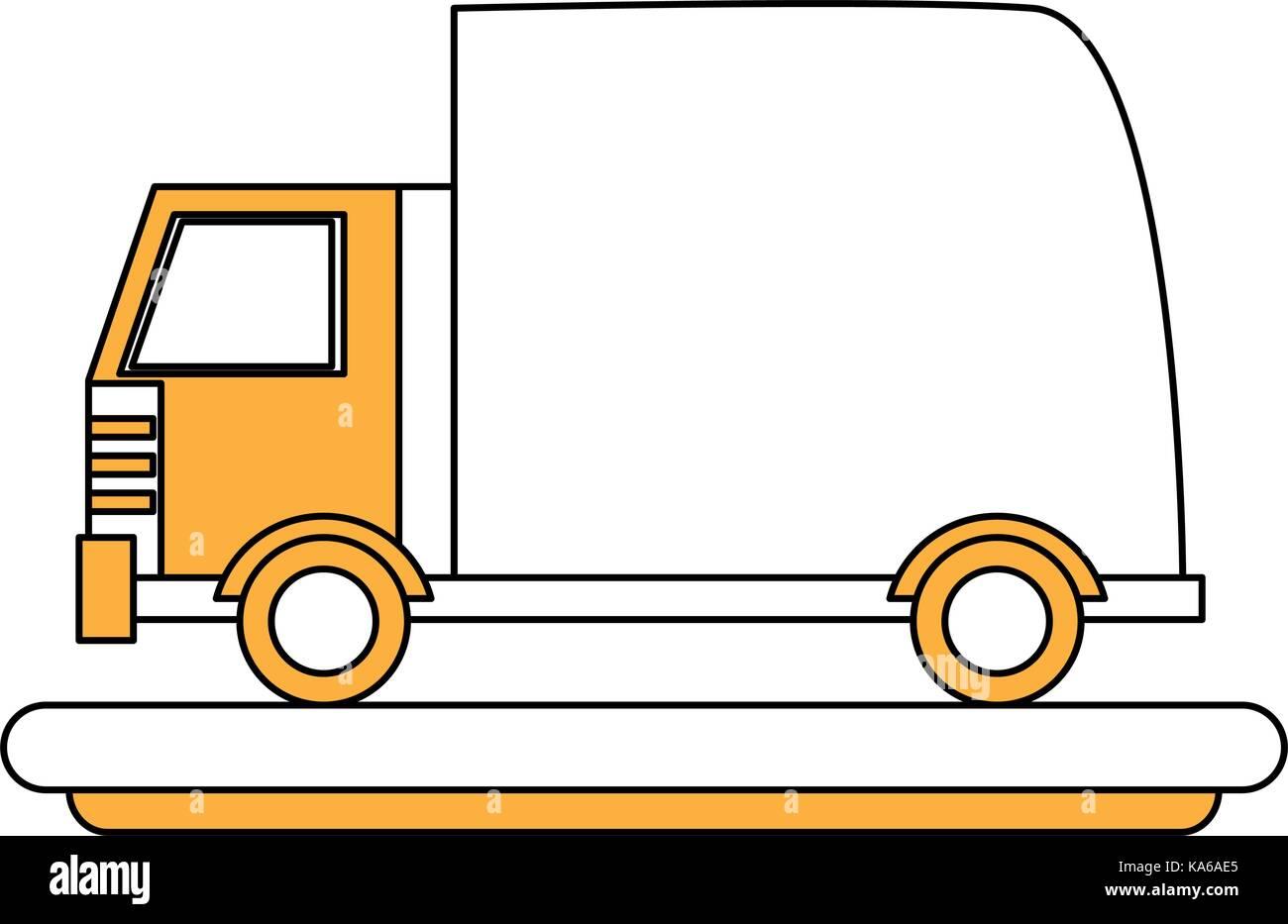 cartoon transport truck - Stock Vector