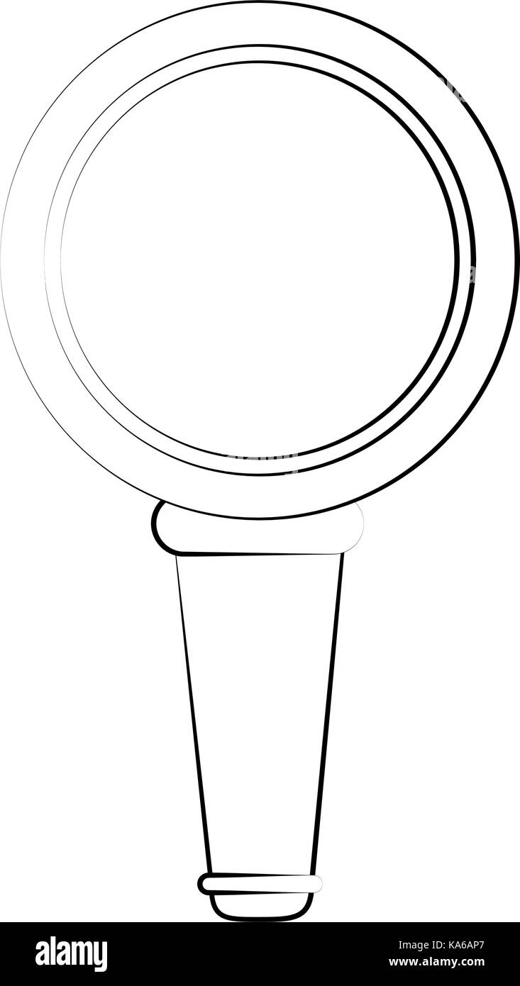 magnifying glass search - Stock Image