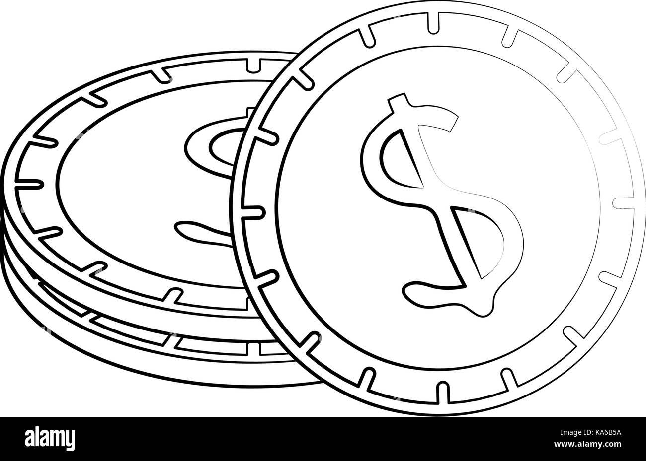 Cent Symbol Vector Sketch Stock Photos Cent Symbol Vector Sketch
