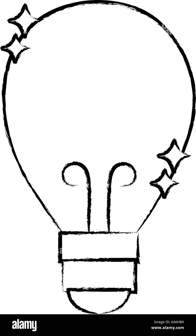 figure bulb power electric energy to illuminate - Stock Image