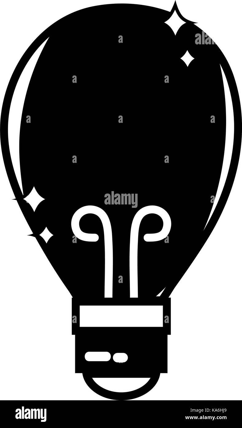 contour bulb power electric energy to illuminate - Stock Image