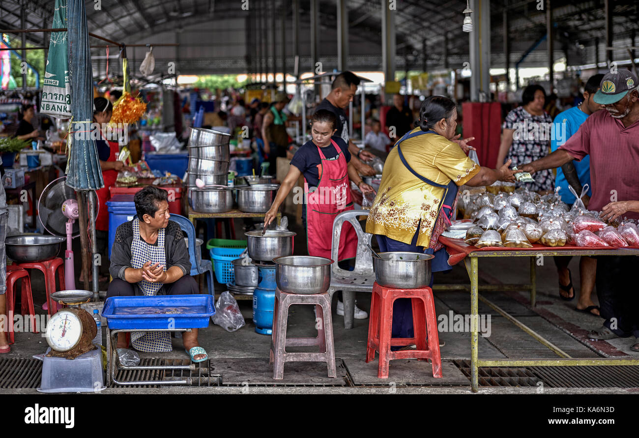 Thailand food market. Southeast Asia. - Stock Image