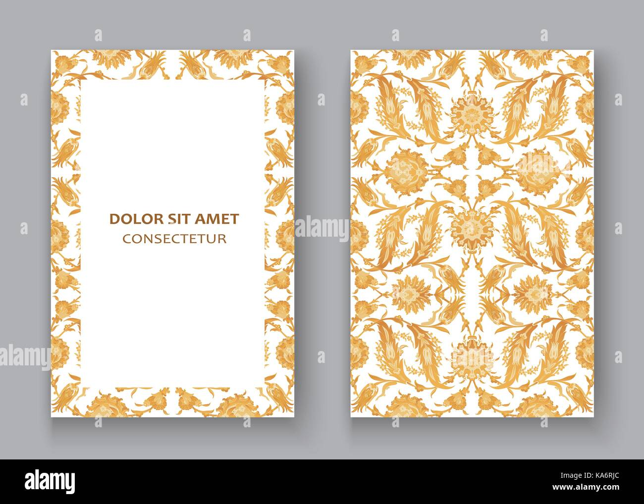 Arabesque vintage decor ornate pattern for design template vector. Eastern motif. Oriental Floral Frame with place Stock Vector