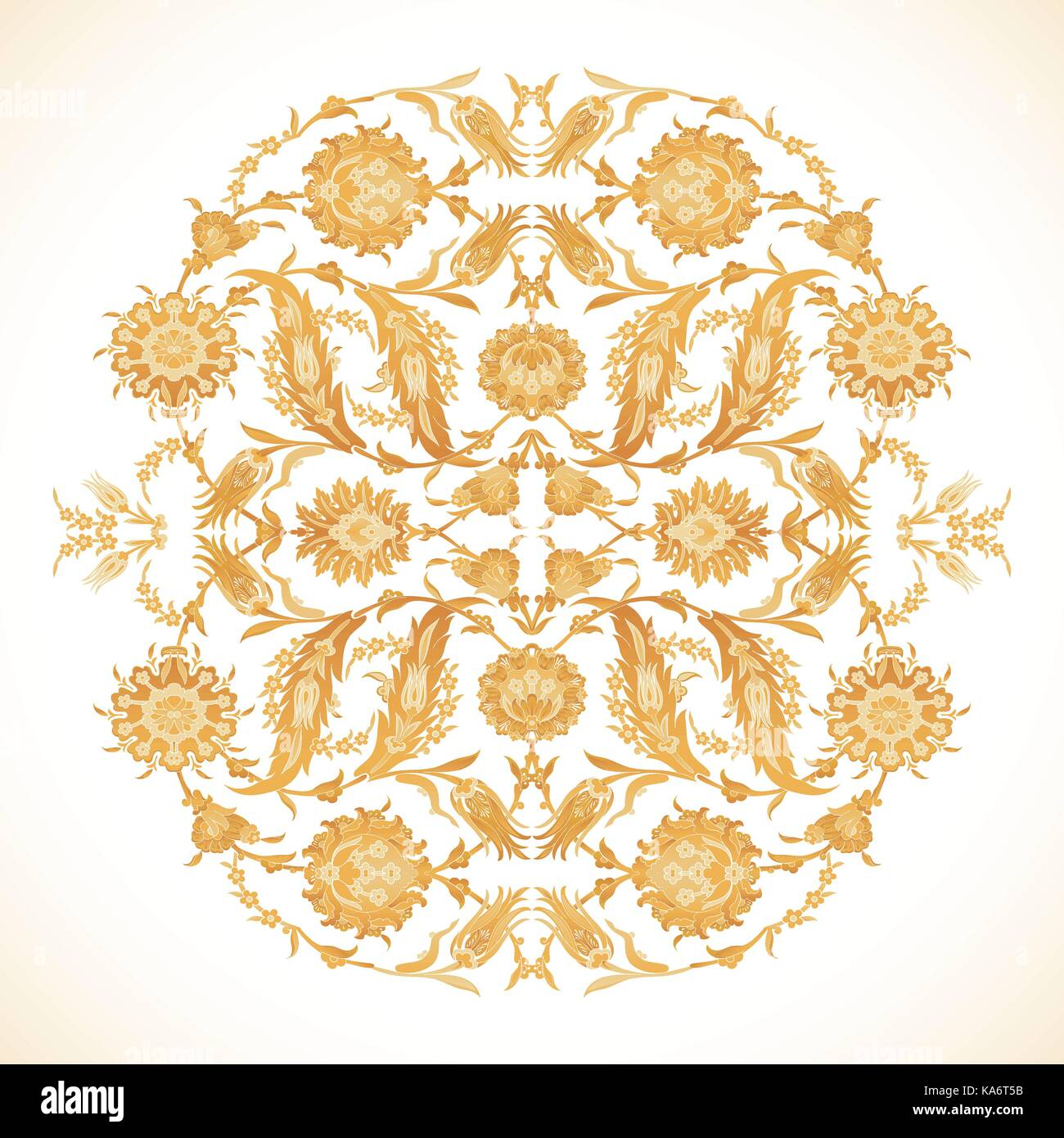 27c7a4d50fa6 Arabesque vintage gold decor ornate pattern for design template vector.  Eastern motif. Floral Border Frame circle. Flowers oriental for save the  date