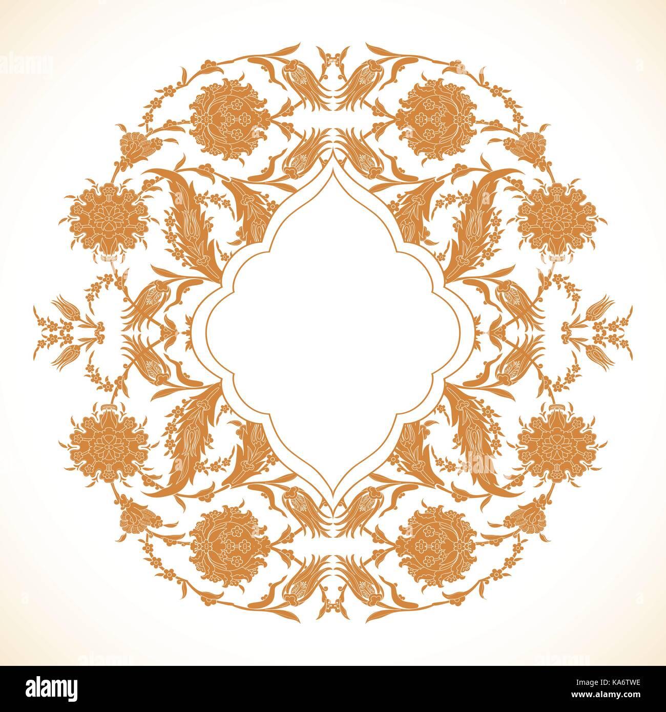 Arabesque vintage gold decor ornate pattern for design template ...