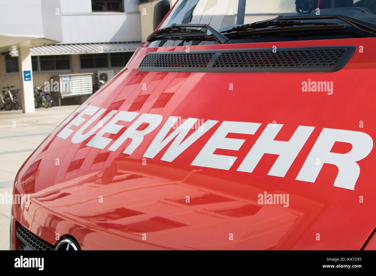 Fire truck, austria, cal 122 - Stock Image