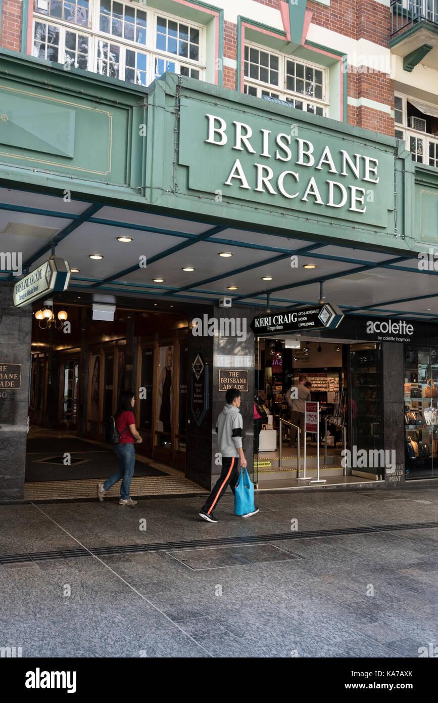 Brisbane Arcade in Queen Street in Brisbane CBD,Queensland, Australia.   The  heritage-listed  shopping arcade was - Stock Image