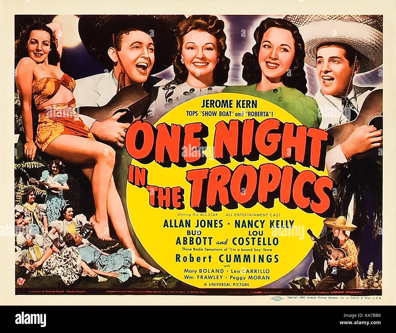 ONE NIGHT IN THE TROPICS 1940 Universal Pictures film with - Stock Image