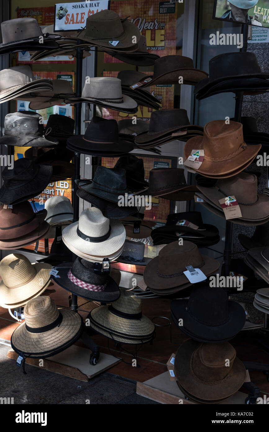f645ffa357 Australian hats on sale in Manly, a beach-side suburb of northern Sydney in