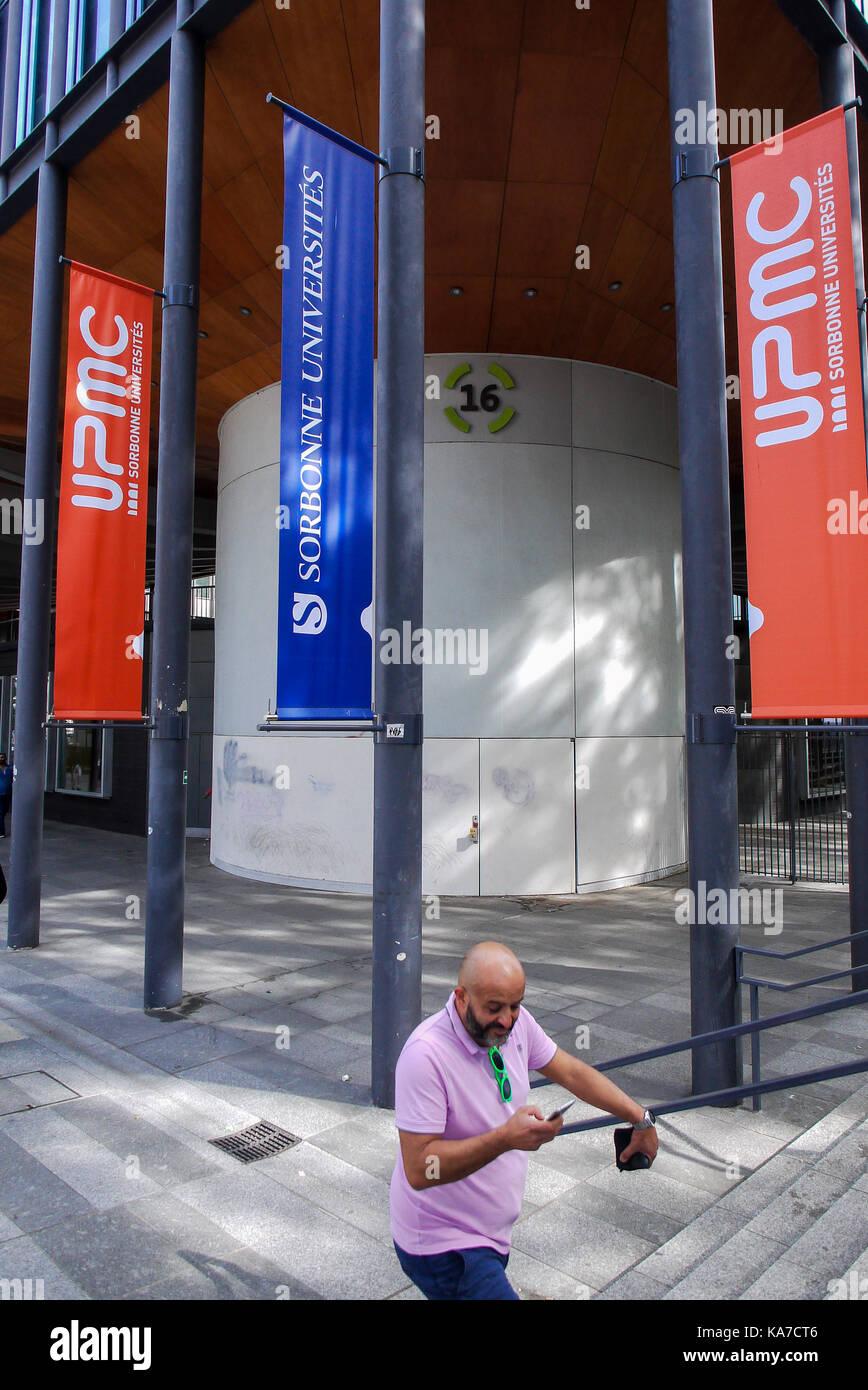 La Sorbonne university, in Paris, France - Stock Image