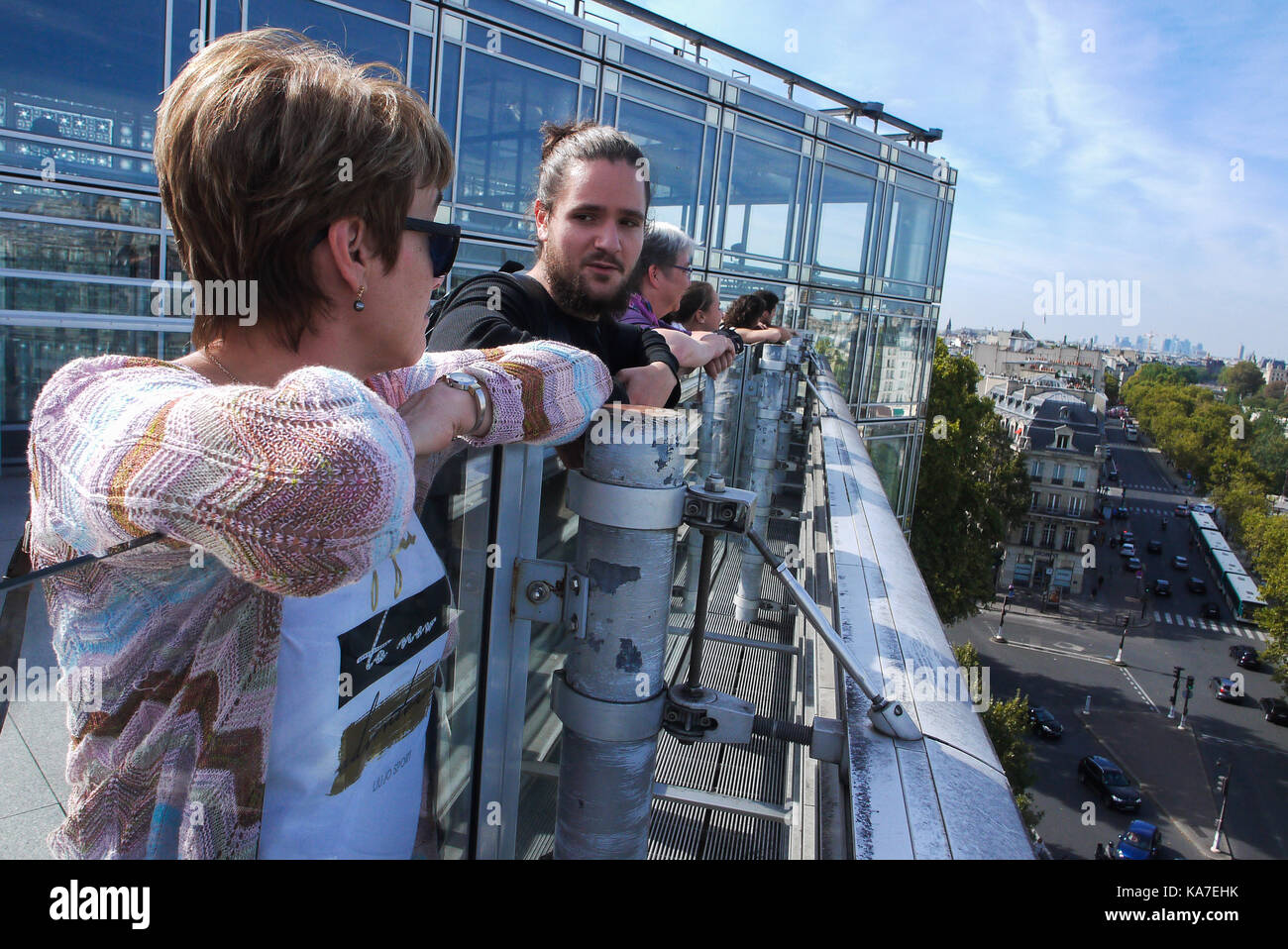 A tour at IMA, Institute of Arab World, Paris, France - Stock Image