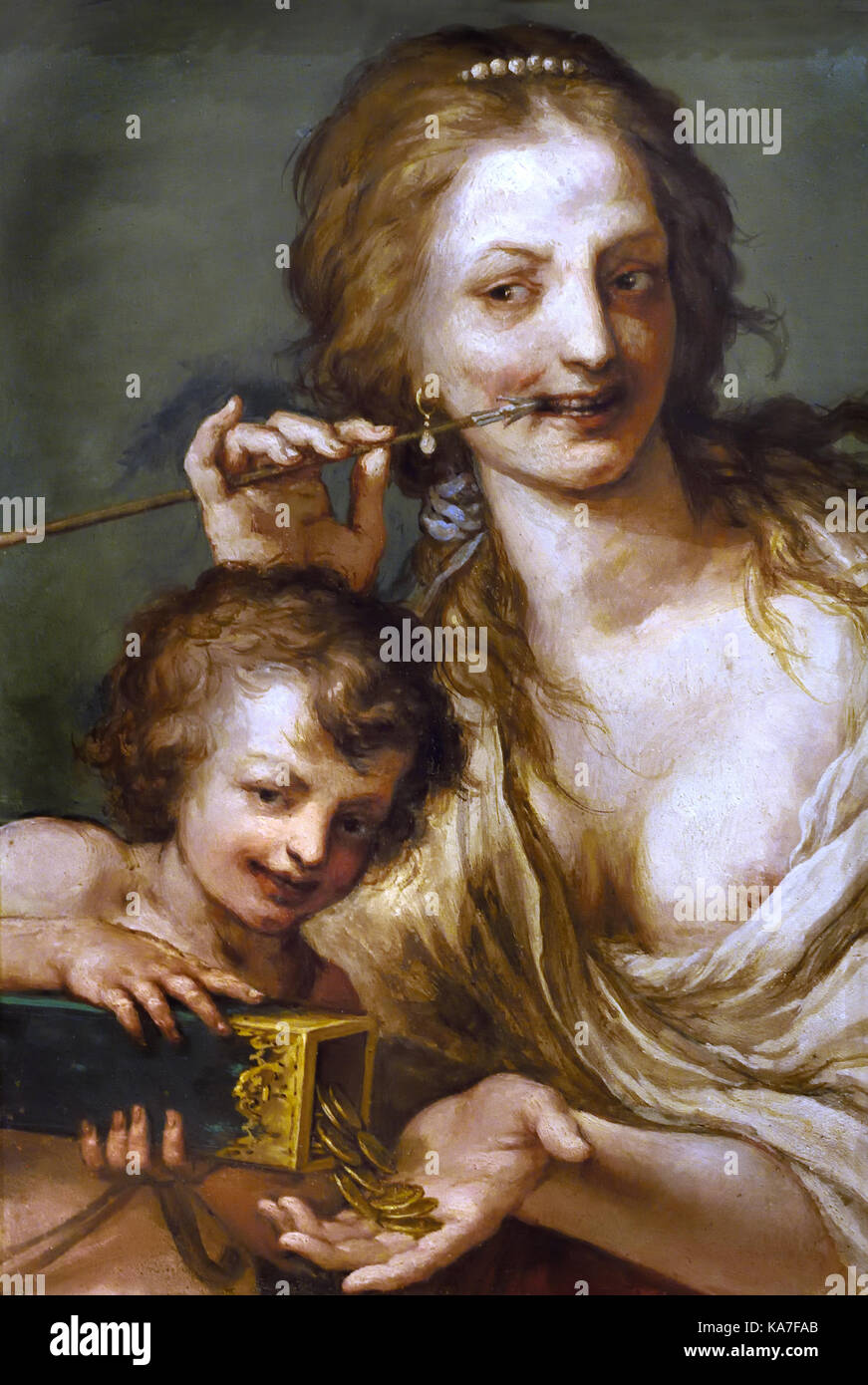 Amore venale - Vengeance by Baldassarre Franceschini 1611 - 1689 Florence Italy - Stock Image
