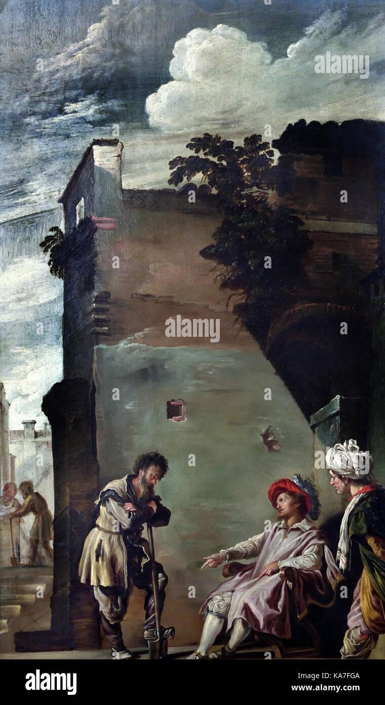 Parabole del Fattore Infedele by Bottega di Domenico Fetti - Parables of Factor Infidel by Bottega Domenico Fetti - Stock Image