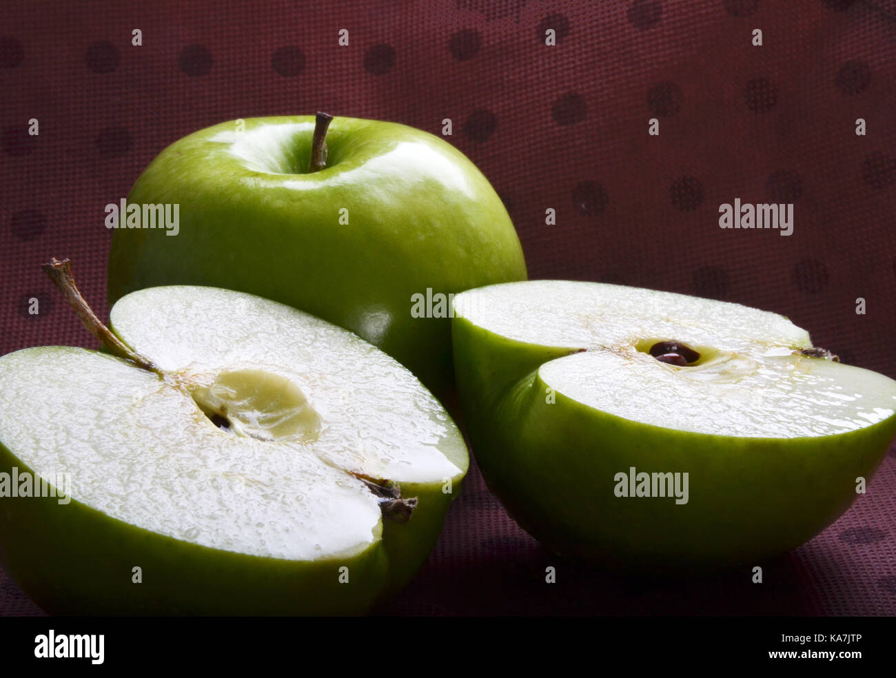 Natural Fresh Apples Stock Photo