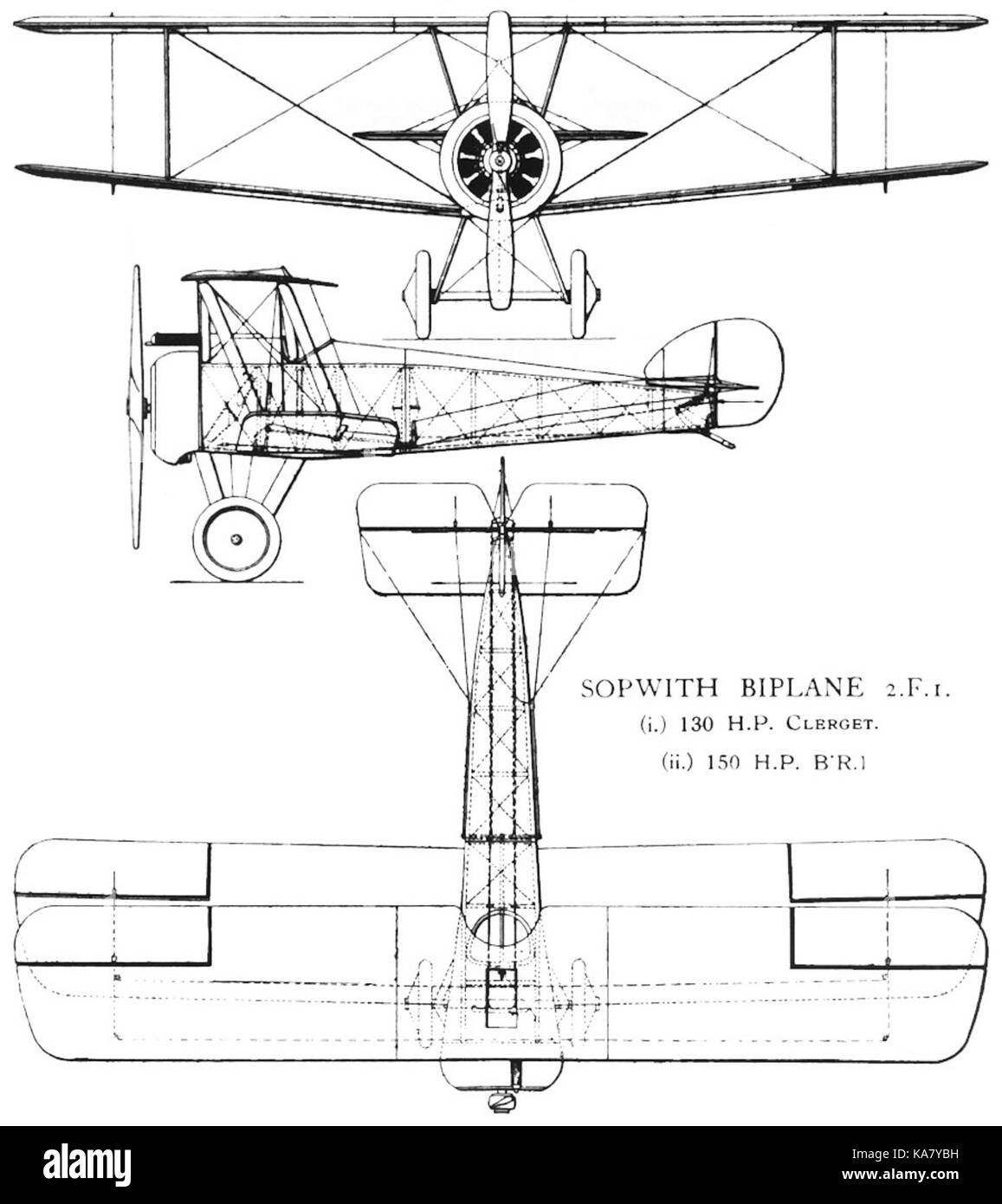 Sopwith 2 F 1 Ship's Camel drawing Stock Photo: 161215029 - Alamy