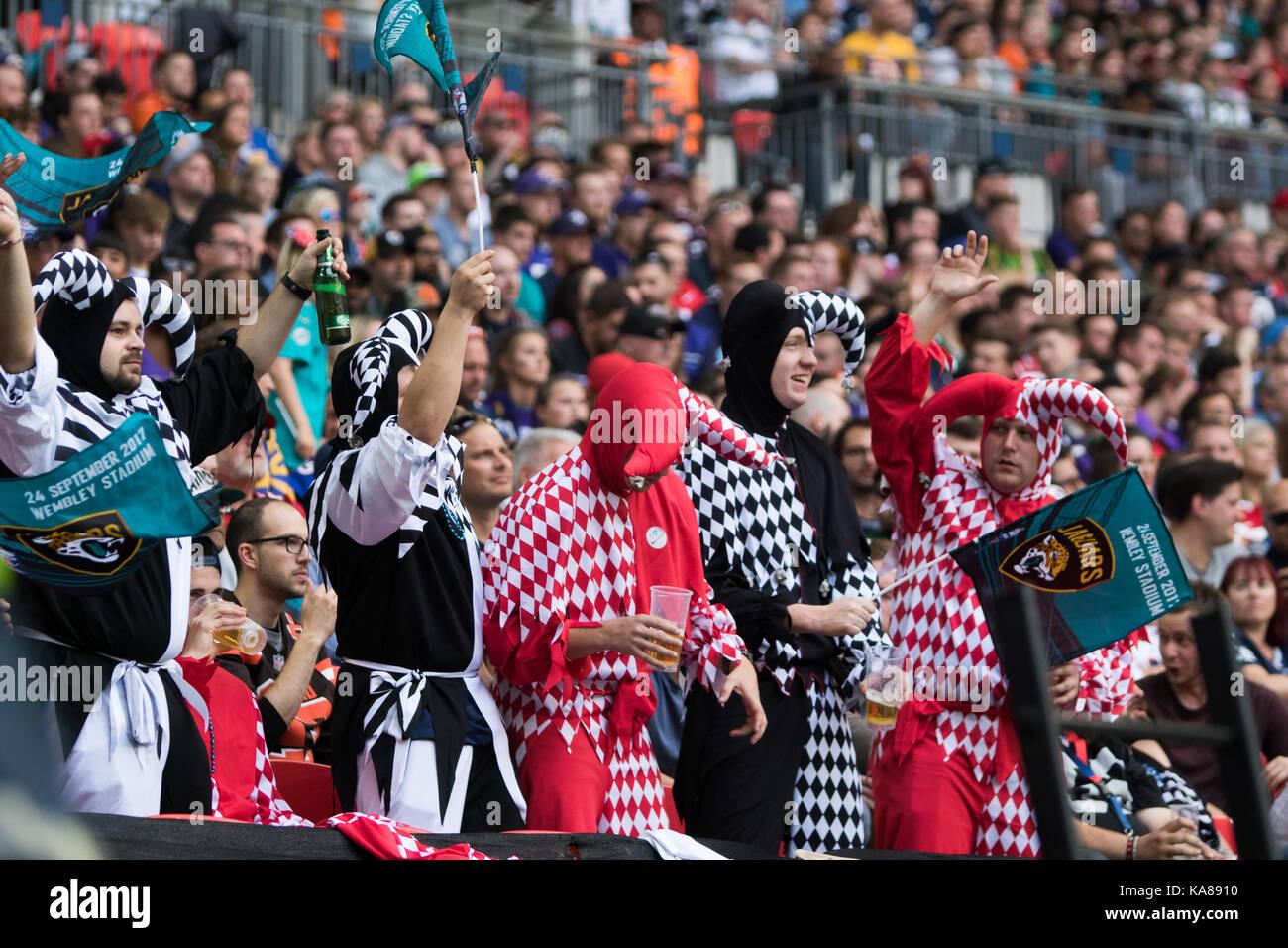 London, UK. 24th Sep, 2017. Wembley Stadium, London, England; NFL International Series, Game One; Baltimore Ravens - Stock Image