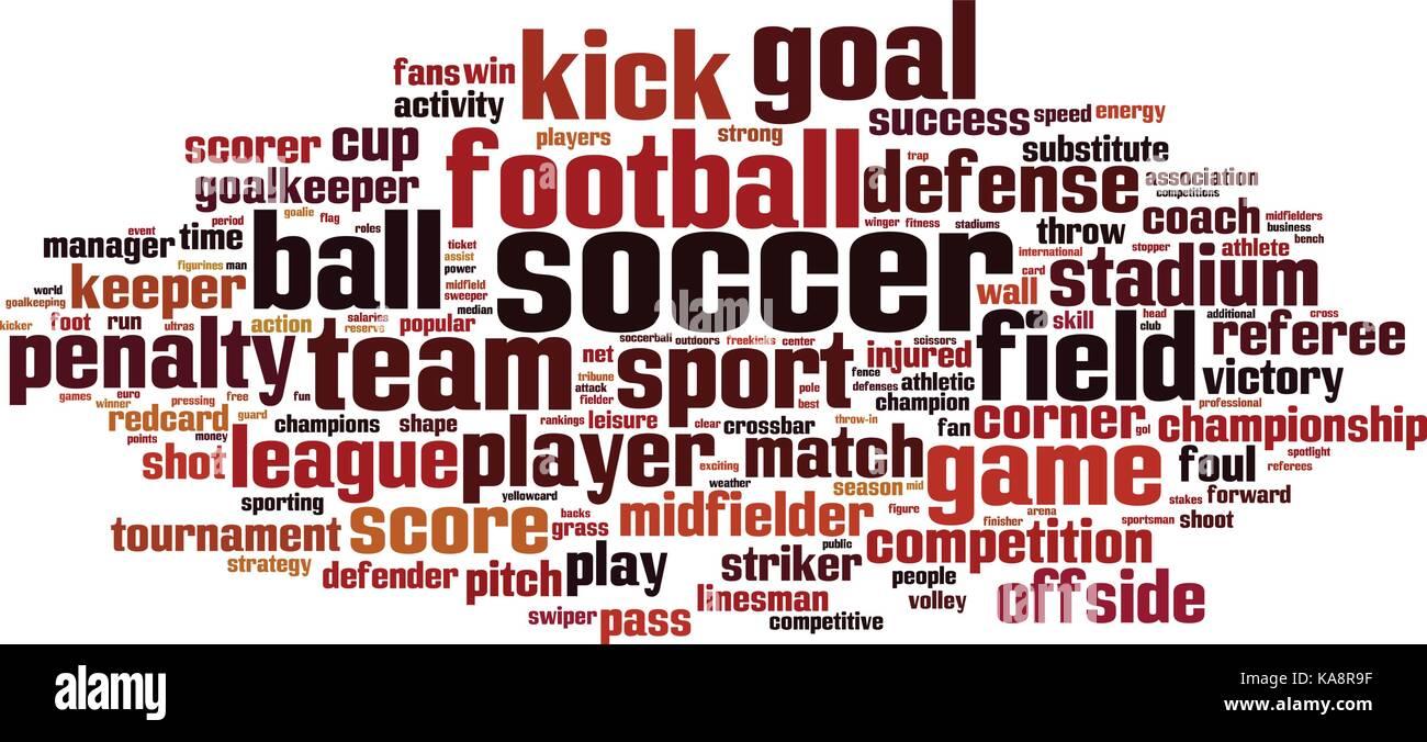 Soccer word cloud concept  Vector illustration Stock Vector