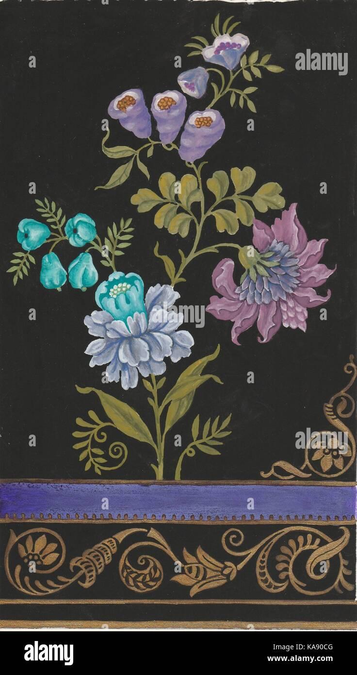Blumenborduere - Stock Image