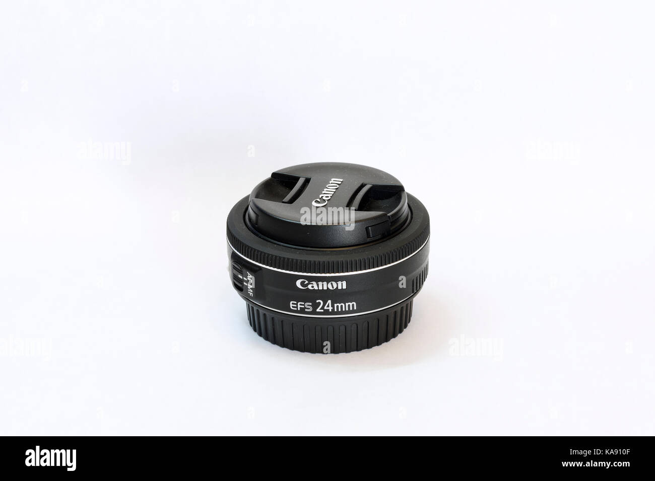 Canon EF-S 24mm f2.8 STM lens Stock Photo