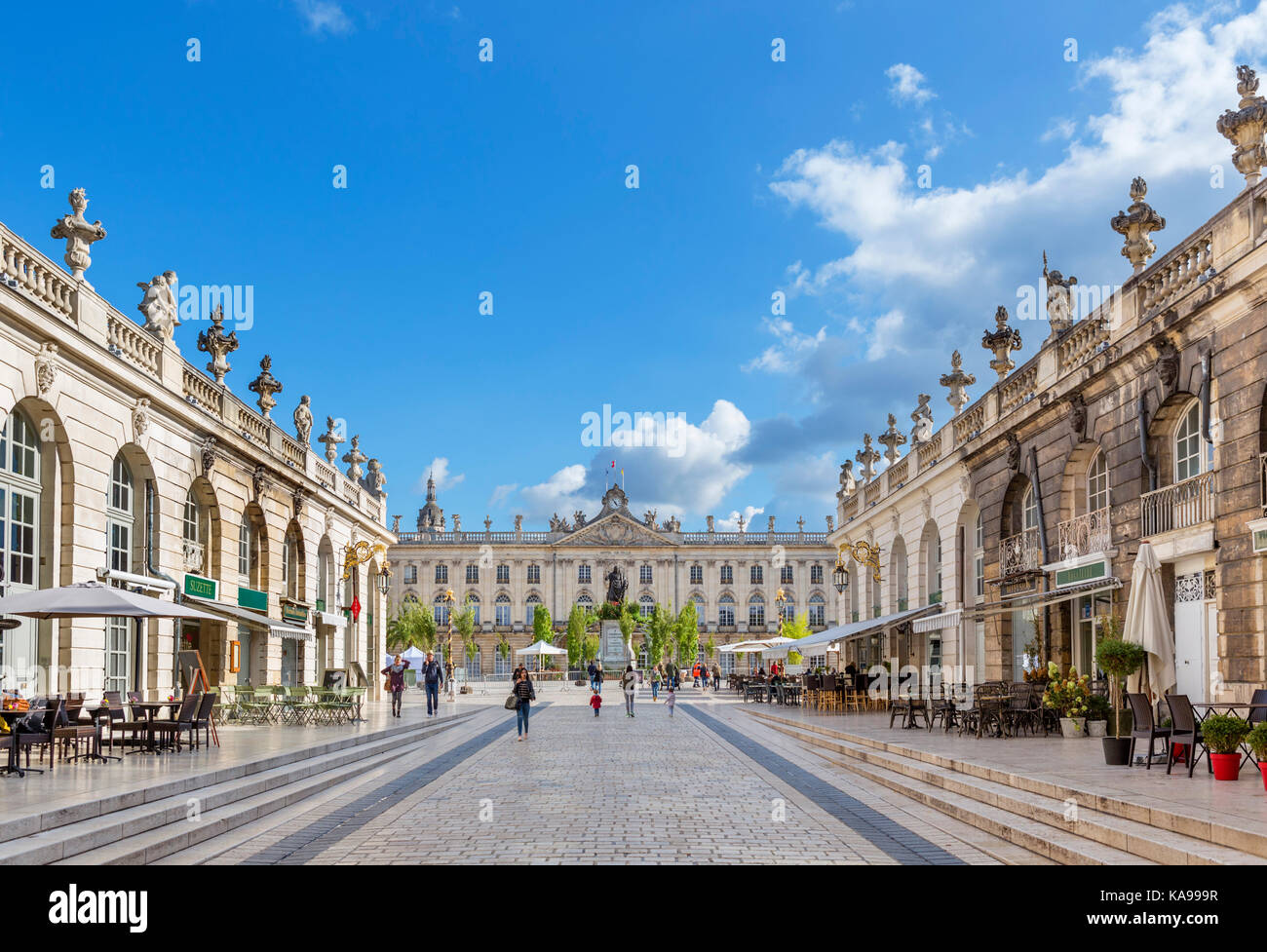 Rue Héré looking towards the Town Hall on Place Stanislas, Nancy, Lorraine, France - Stock Image