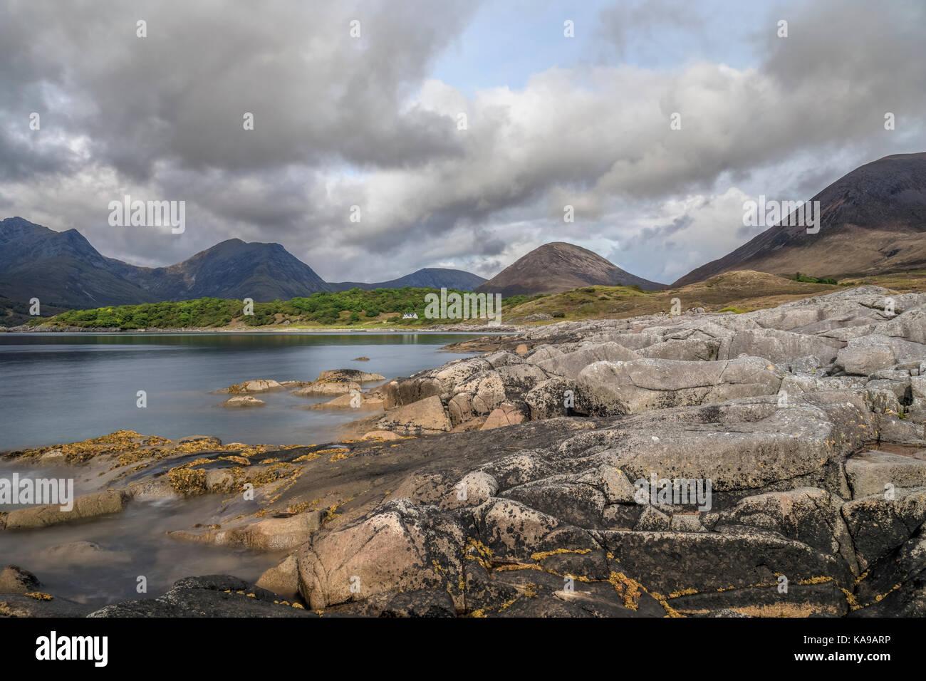 Loch Slapin, Black Cuillin, Isle of Skye, Scotland, United Kingdom - Stock Image