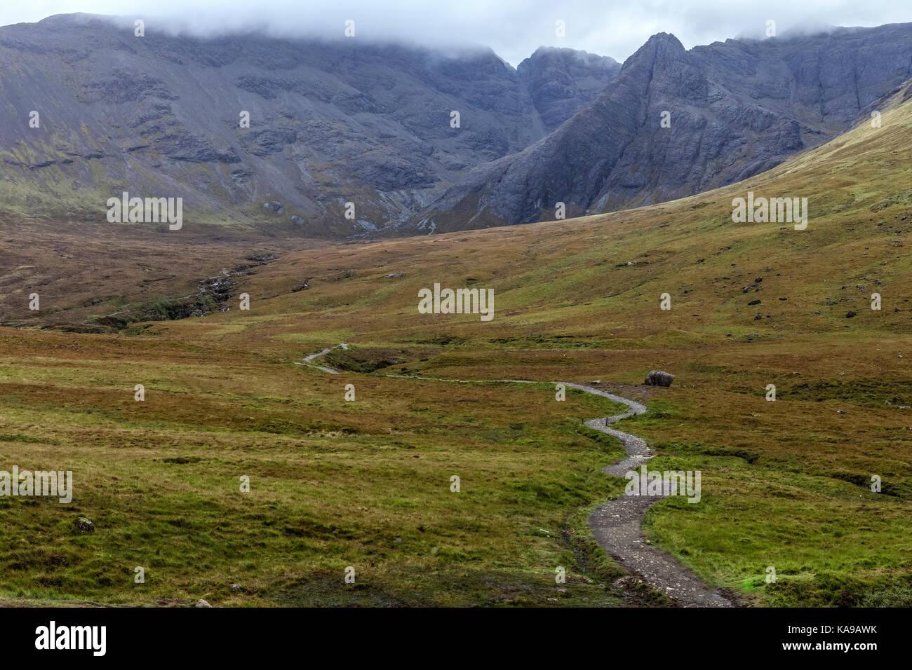Fairy Pools, Glen Brittle, Isle of Skye, Scotland, United Kingdom - Stock Image