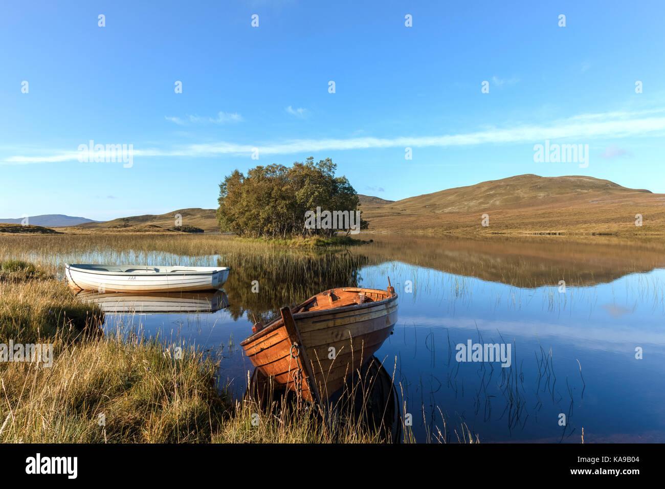 Loch Awe, Assynt, Sutherland, Scotland, United Kingdom - Stock Image