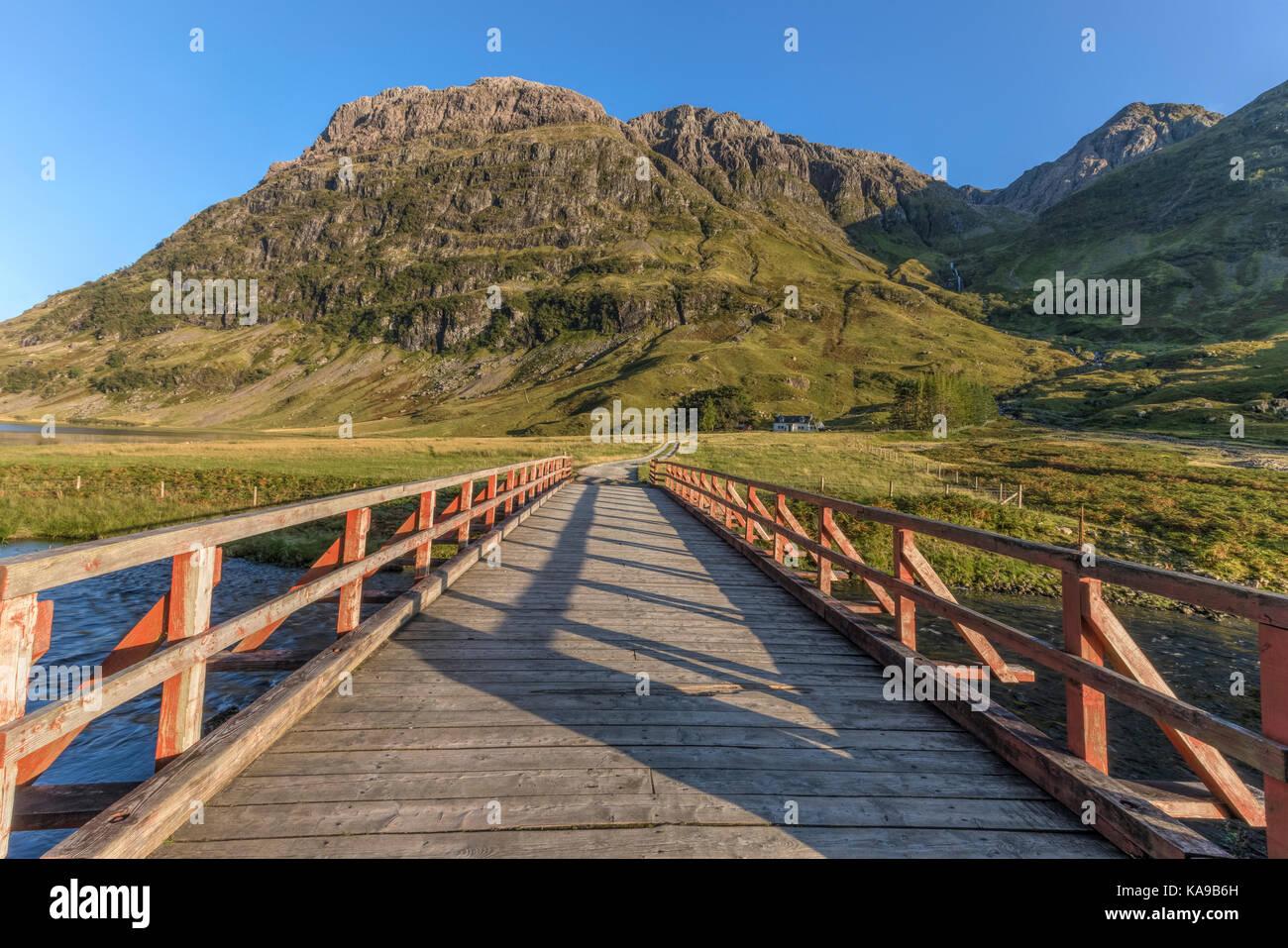 Loch Achtriochtan, Glencoe, Highlands, Scotland, United Kingdom - Stock Image