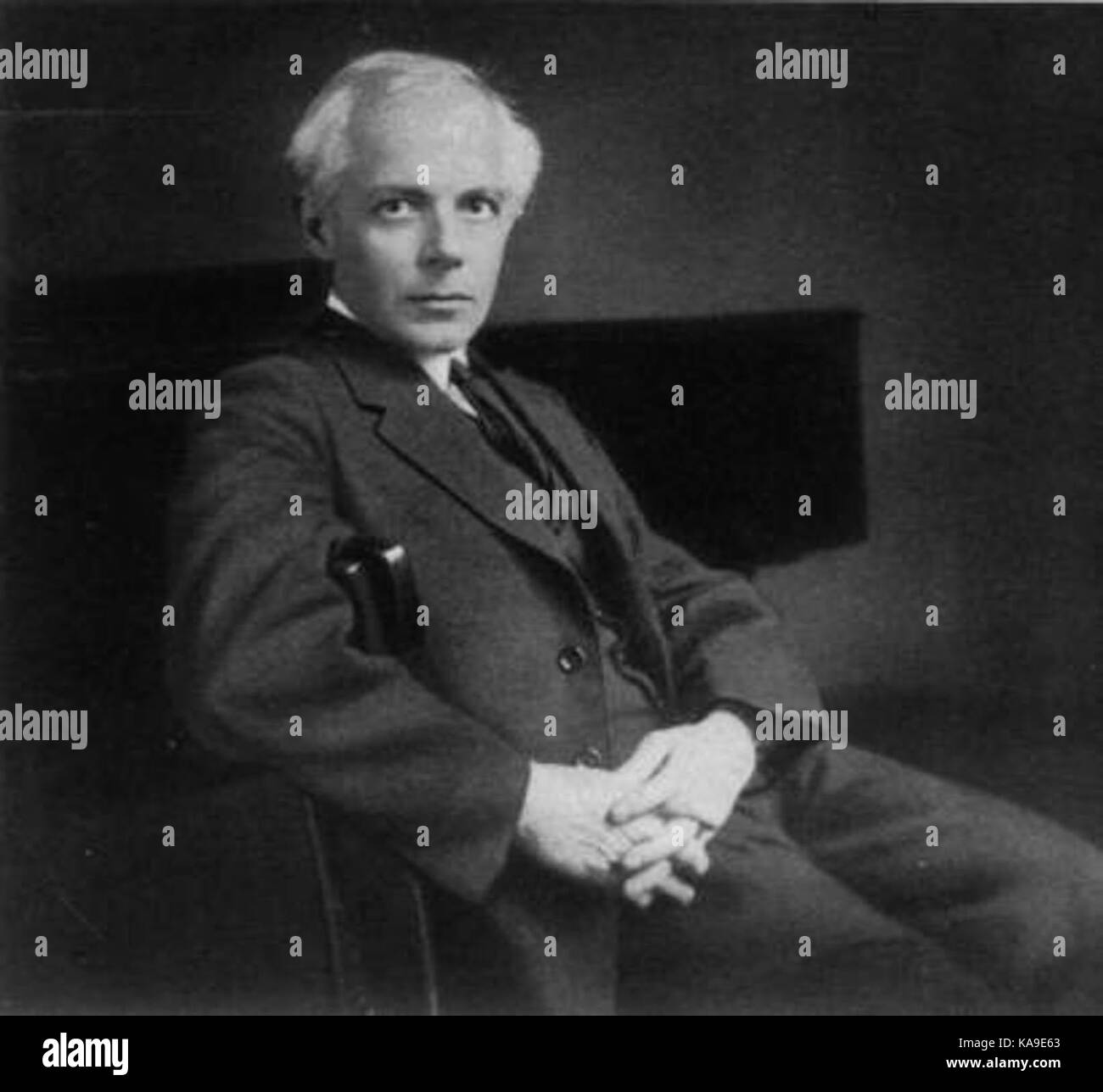 Béla Bartók, an influential composer from the early 20th century; one of the founders of ethnomusicology - Stock Image