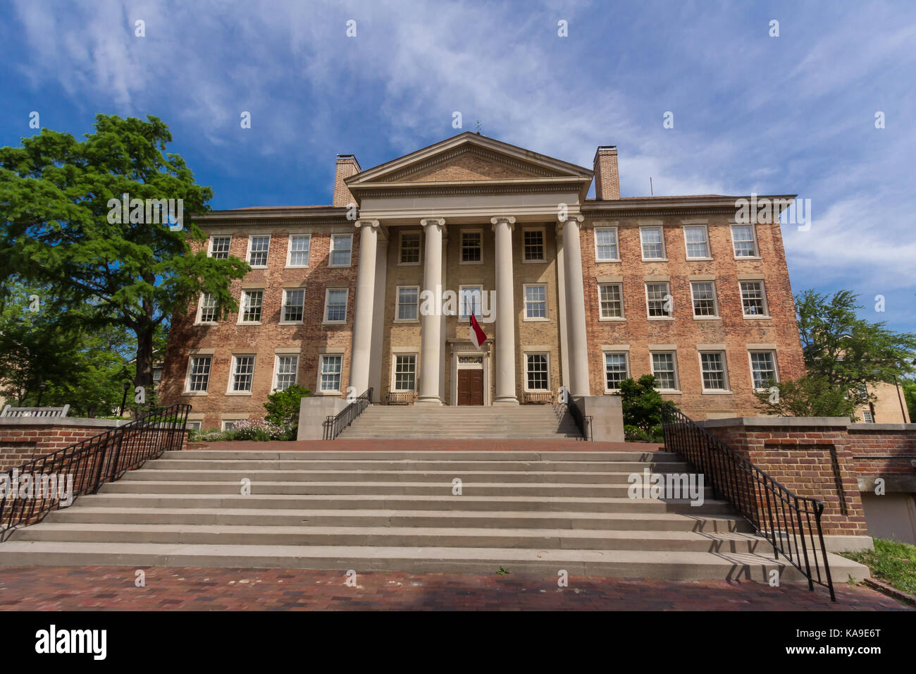 South Building at the University of North Carolina at Chapel Hill in Chapel Hill, North Carolina.  Built in 1814. - Stock Image