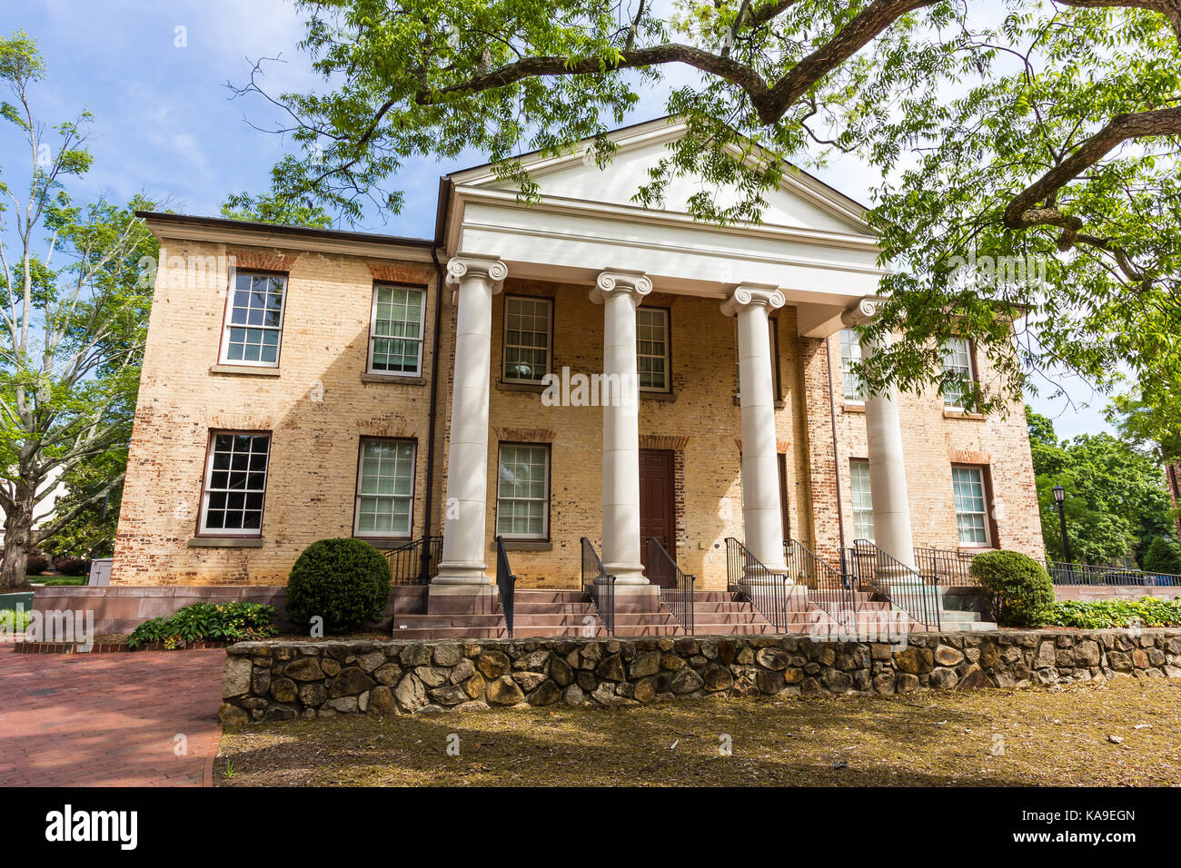 Gerrard Hall at the University of North Carolina at Chapel Hill in Chapel Hill, North Carolina.  Built in 1837. - Stock Image