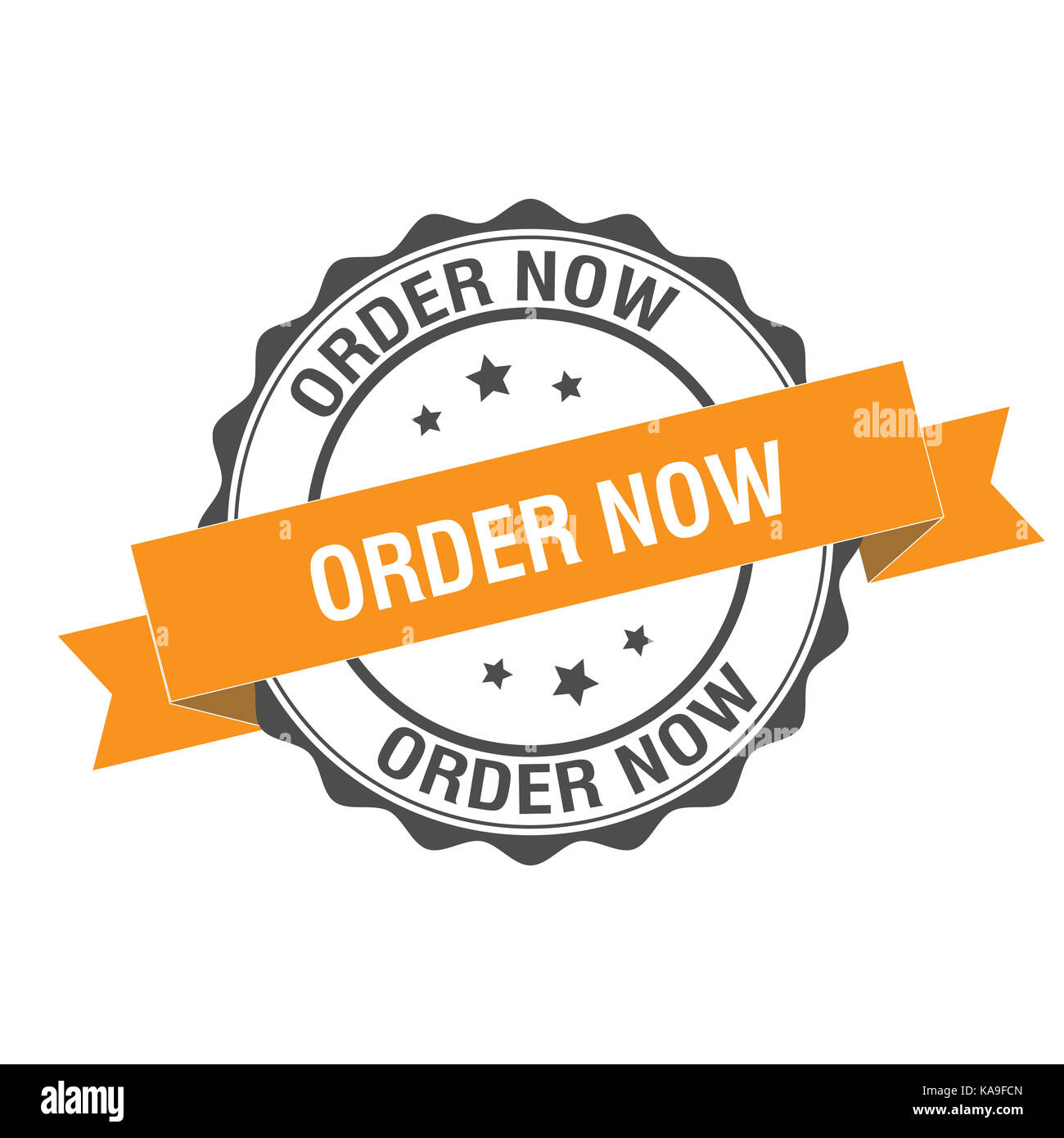 Order now stamp illustration Stock Photo