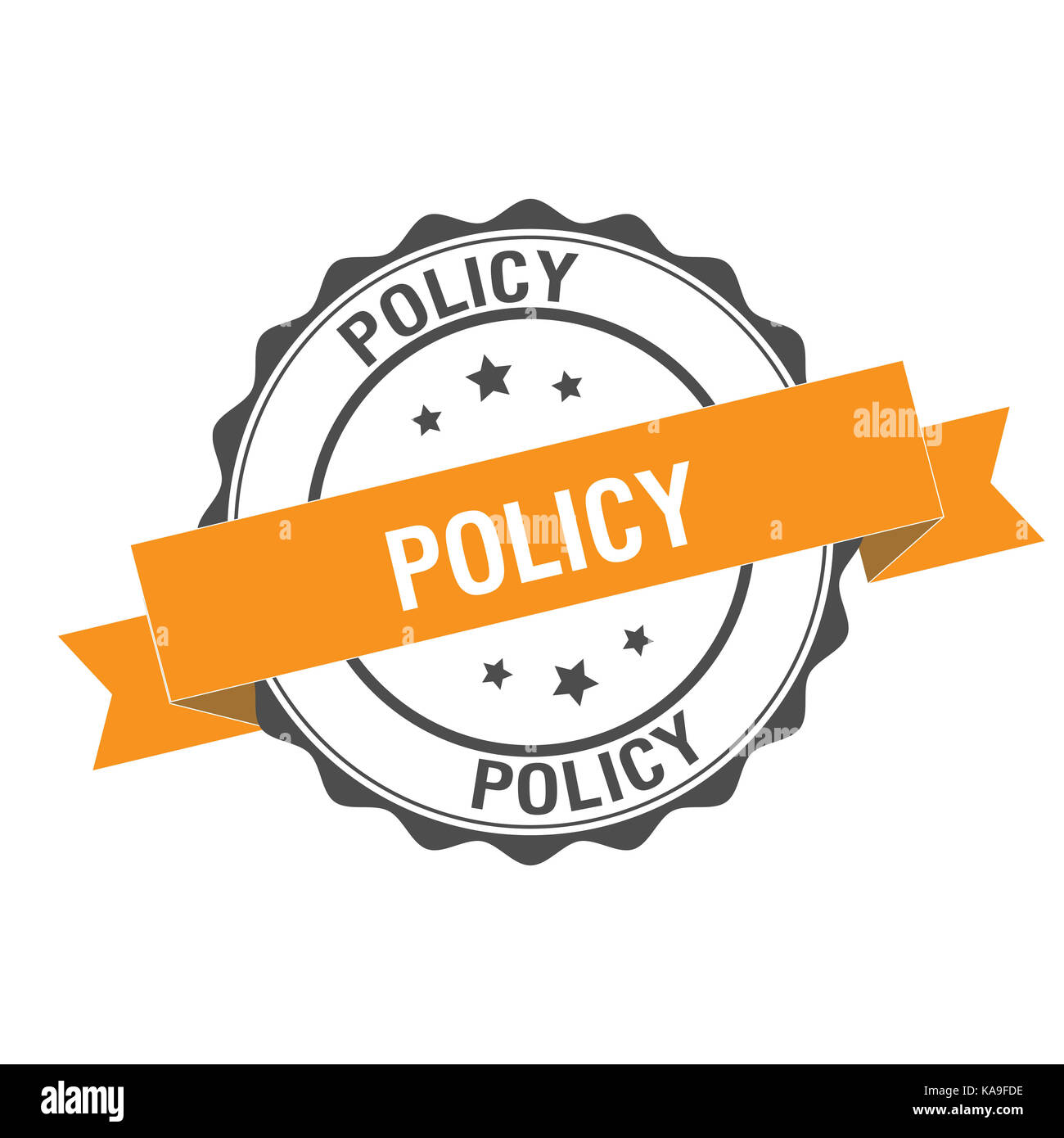 Policy stamp illustration - Stock Image