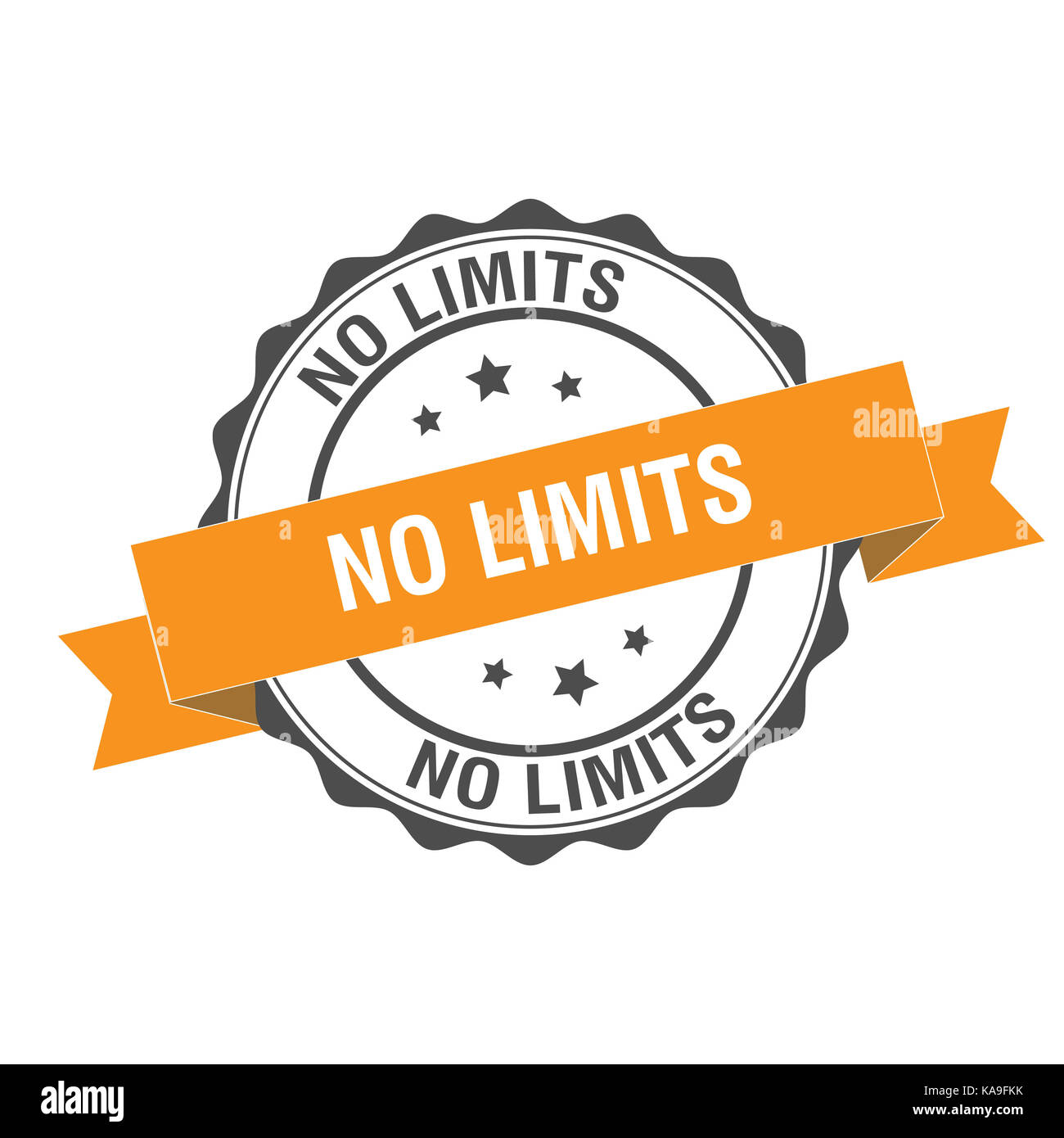 No limits stamp illustration - Stock Image