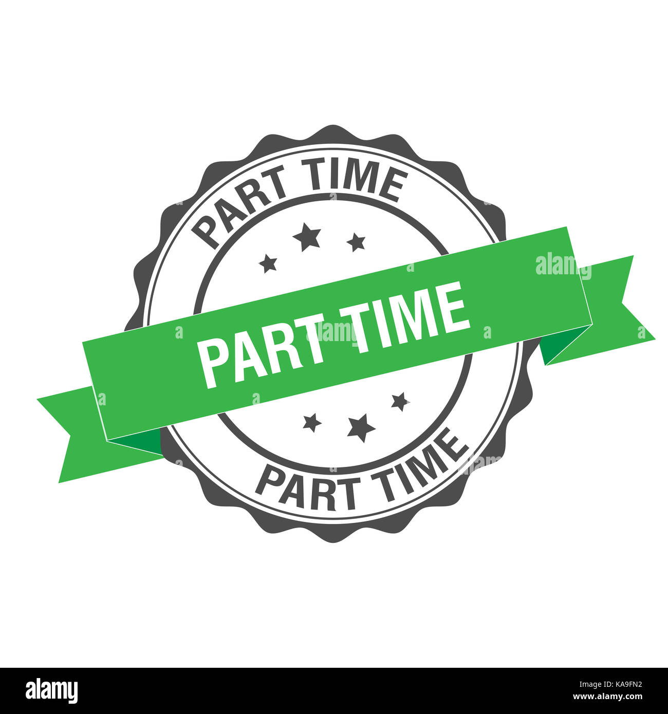Part time stamp illustration - Stock Image
