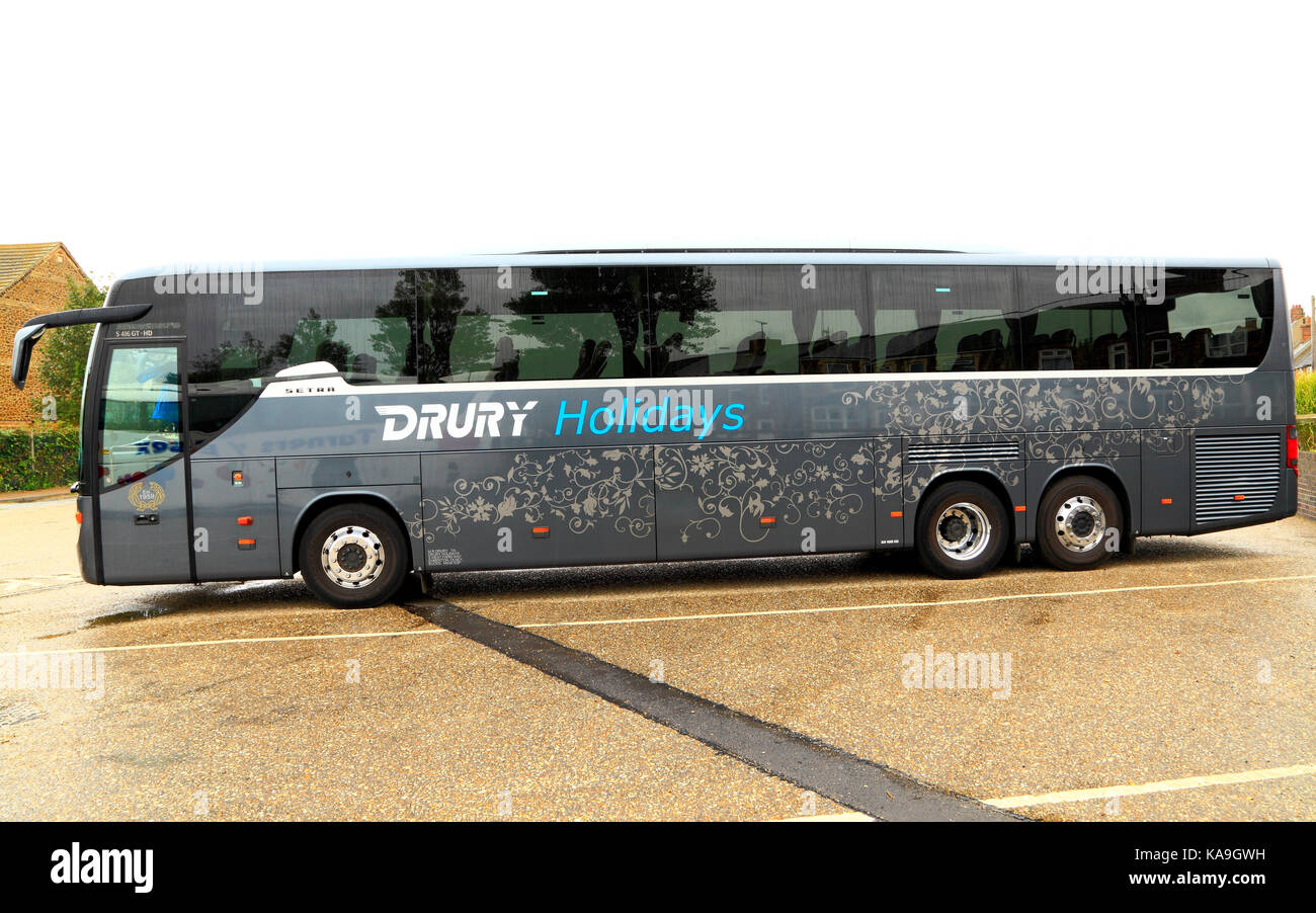 Drury Holidays, coach, coaches, day trips, trip, excursion, excursions, travel company, companies, transport, holiday, - Stock Image