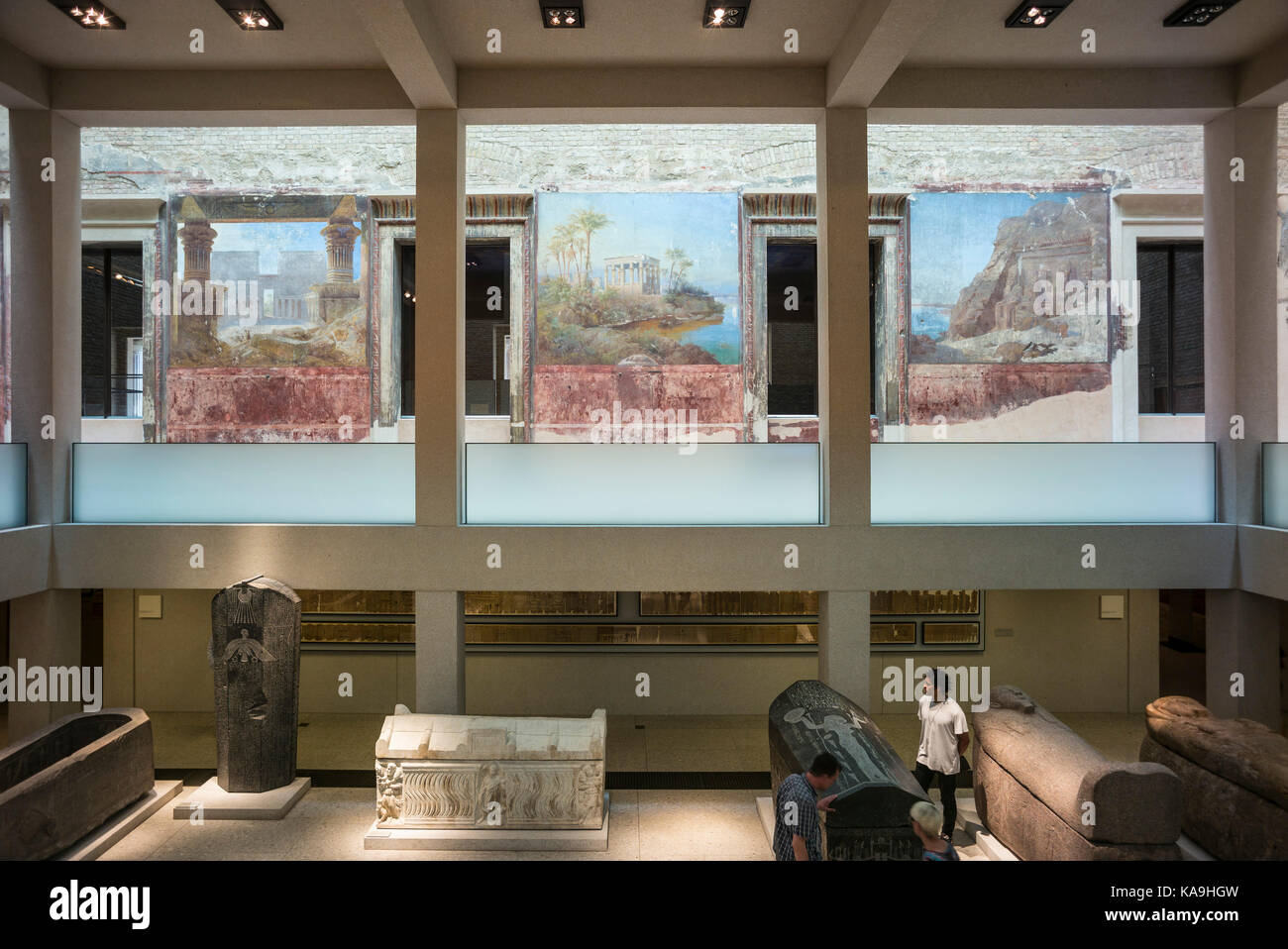 Berlin. Germany. The Neues Museum (New Museum), Museum Island, the Egyptian Courtyard.  The Neues Museum exhibits Stock Photo