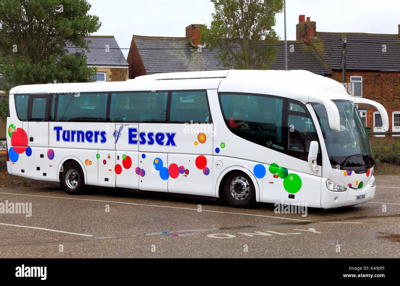 Turners of Essex, coach, coaches, day trips, trip, excursion, excursions, holiday, holidays, transport, travel company, - Stock Image