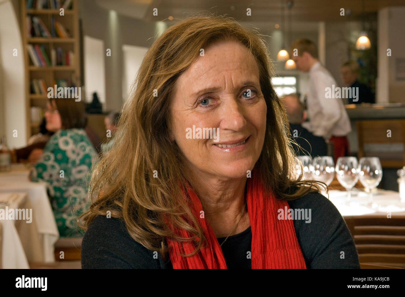 Jill Stein, former wife of Rick Stein and co owner of  the Seafood Restaurant, Padstow. - Stock Image