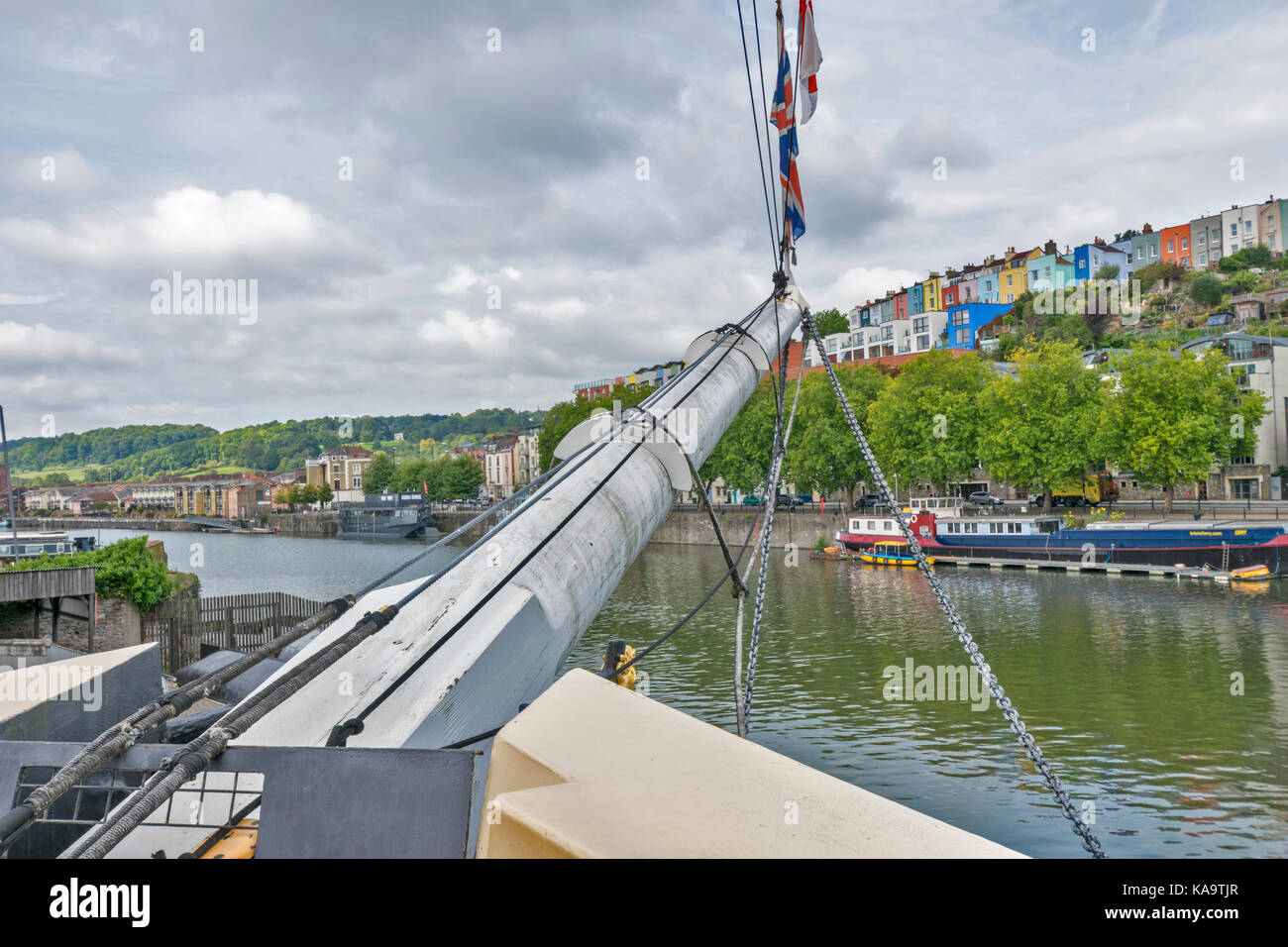BRISTOL ENGLAND THE CITY CENTRE AND HARBOUR ON THE RIVER AVON AT HOTWELLS DOCKSIDE  THE WESTERN DOCKYARD BRUNELS - Stock Image