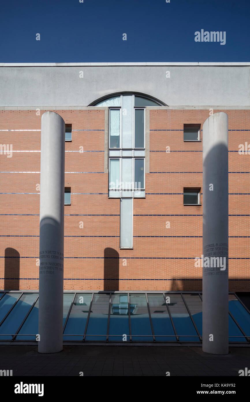 Way of Human Rights (Straße der Menschenrechte), outside the Germanisches Nationalmuseum, Nuremberg, Germany - Stock Image
