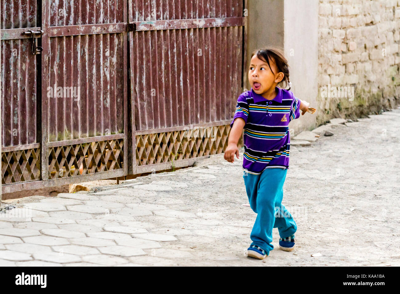 Nepalese child - Stock Image