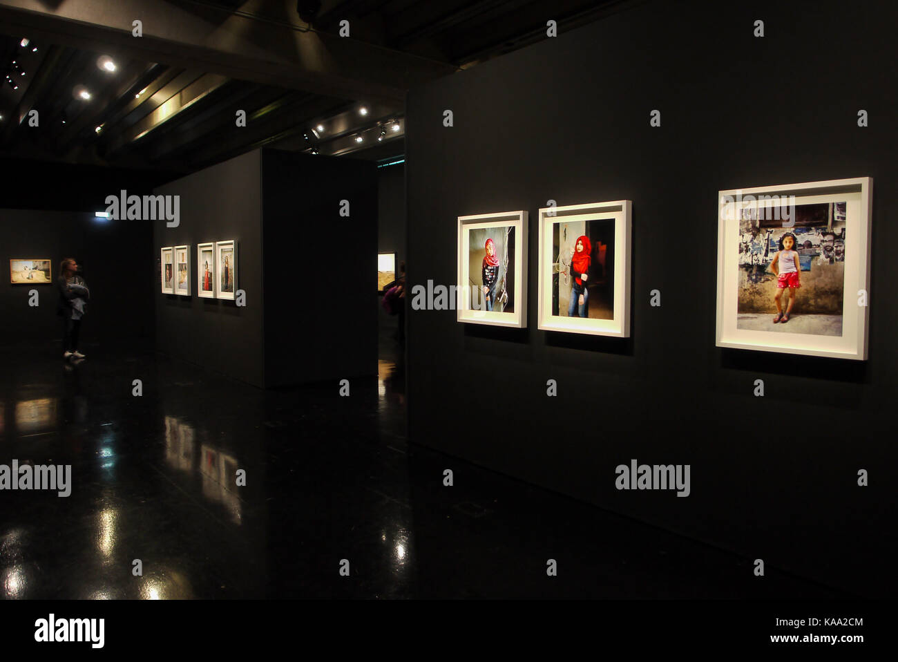 Arab World Institute (IMA) shelters the Second Biennial of Photography in the Contemporary Arab World, Paris France - Stock Image