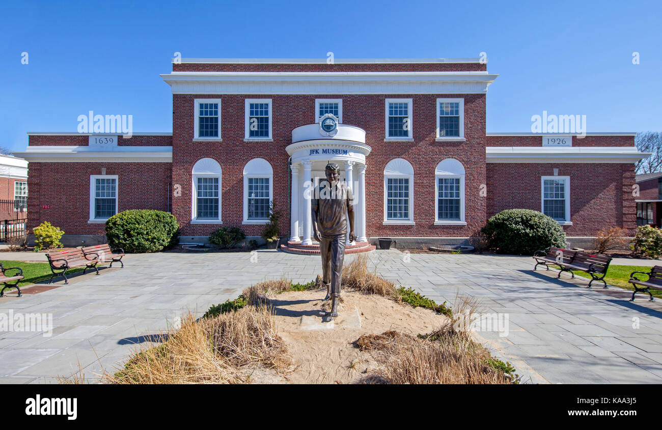 The John F. Kennedy Museum in Hyannis, Cape Cod, Massachusetts. - Stock Image